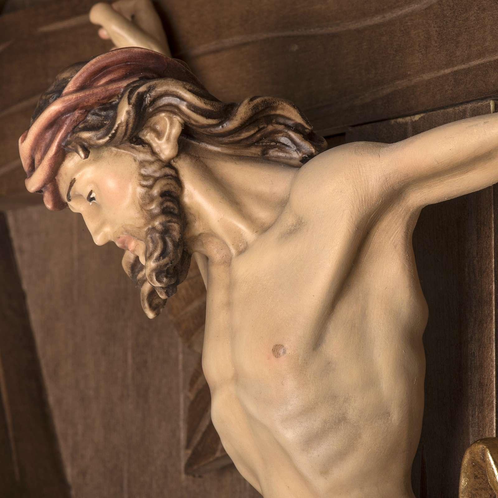 Croce di campagna abete con corpo Cristo Val Gardena 4