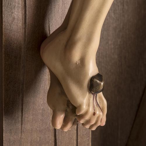 Croce di campagna abete con corpo Cristo Val Gardena 7