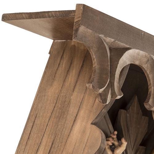 Croce di campagna abete con corpo Cristo Val Gardena 11