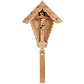 Croce campagna larice con corpo Cristo Val Gardena s1