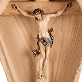 Croce campagna larice con corpo Cristo Val Gardena s2