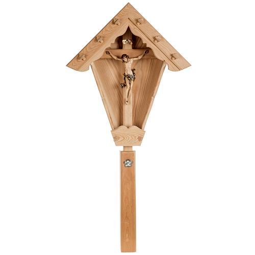 Croce campagna larice con corpo Cristo Val Gardena 1