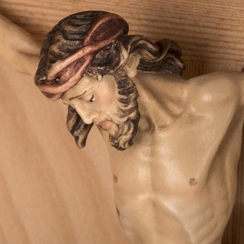 Croce campagna larice con corpo Cristo Val Gardena 16