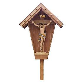 Croix de campagne bois de mélèze laqué s1