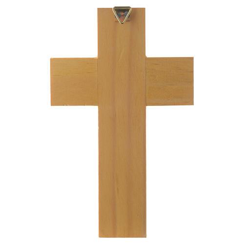 Cross with Guardian angel in enamelled wood 4