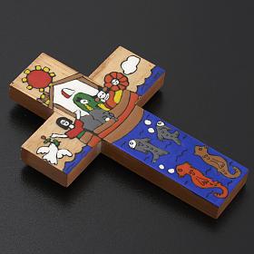 Cruz Arca de Noé madera esmaltada s4
