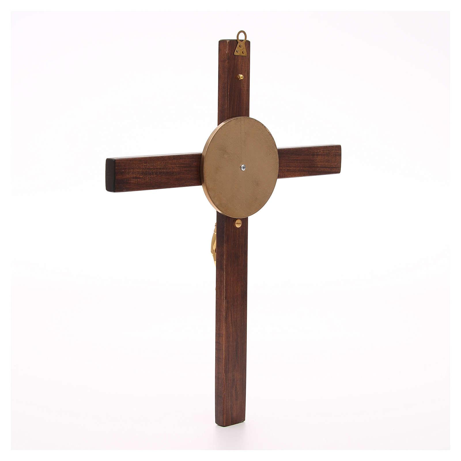 Crocefisso legno di faggio corpo bronzo 4