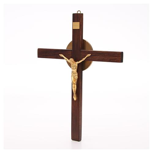 Crocefisso legno di faggio corpo bronzo 2
