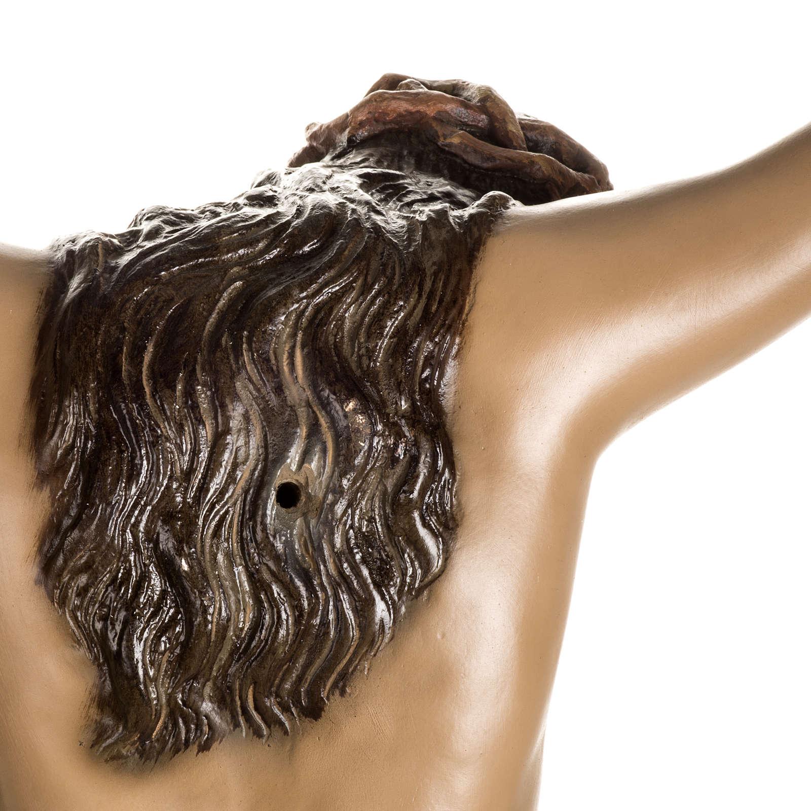 Cuerpo de Cristo muerto pasta de madera dec. antigua 4