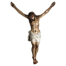 Cuerpo de Cristo muerto pasta de madera dec. antigua s1