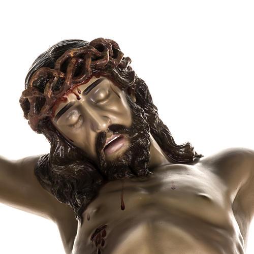 Cuerpo de Cristo muerto pasta de madera dec. antigua 2