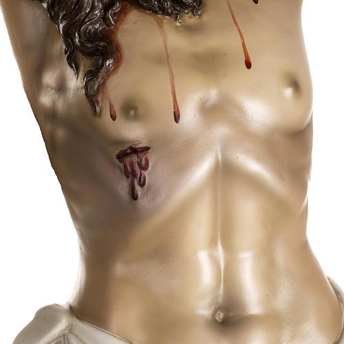 Cuerpo de Cristo muerto pasta de madera dec. antigua 3
