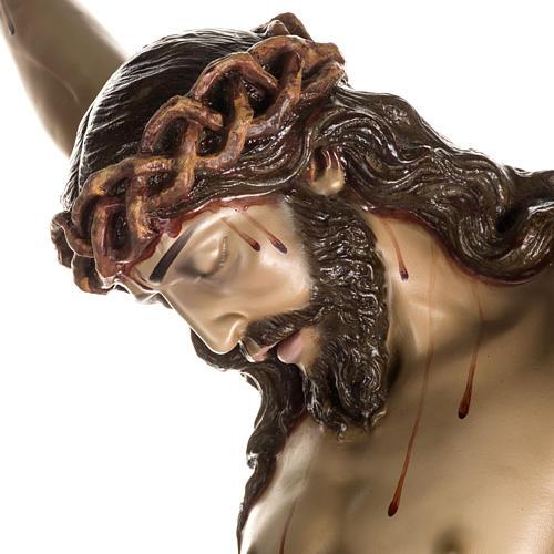 Cuerpo de Cristo muerto pasta de madera dec. antigua 7