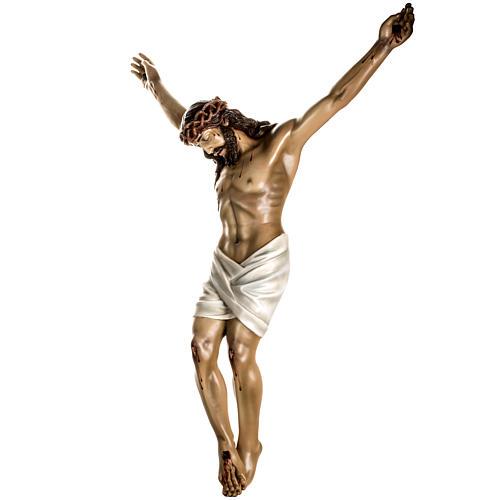 Cuerpo de Cristo muerto pasta de madera dec. antigua 8