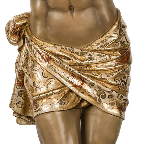 Body of Christ, 160cm in wood paste with extra decorations 3