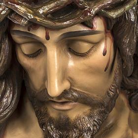 Corpo di Cristo morto 160cm pasta legno raggiera, finitura extra s5
