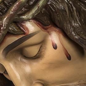 Corpo di Cristo morto 160cm pasta legno raggiera, finitura extra s6