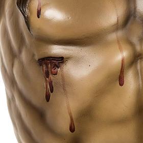 Corpo di Cristo morto 160cm pasta legno raggiera, finitura extra s7