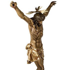 Corpo di Cristo morto 160cm pasta legno raggiera, finitura extra s10