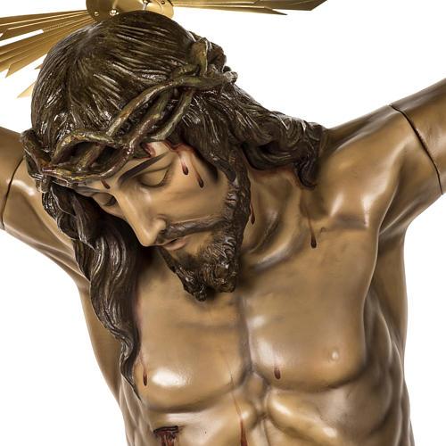 Corpo di Cristo morto 160cm pasta legno raggiera, finitura extra 2