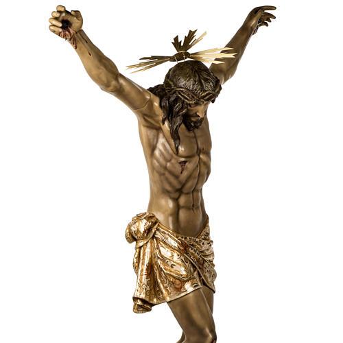 Corpo di Cristo morto 160cm pasta legno raggiera, finitura extra 10
