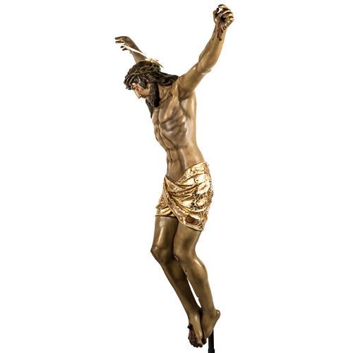 Corpo di Cristo morto 160cm pasta legno raggiera, finitura extra 14