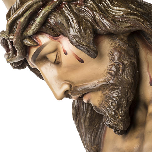 Corpo di Cristo morto 160cm pasta legno raggiera, finitura extra 15