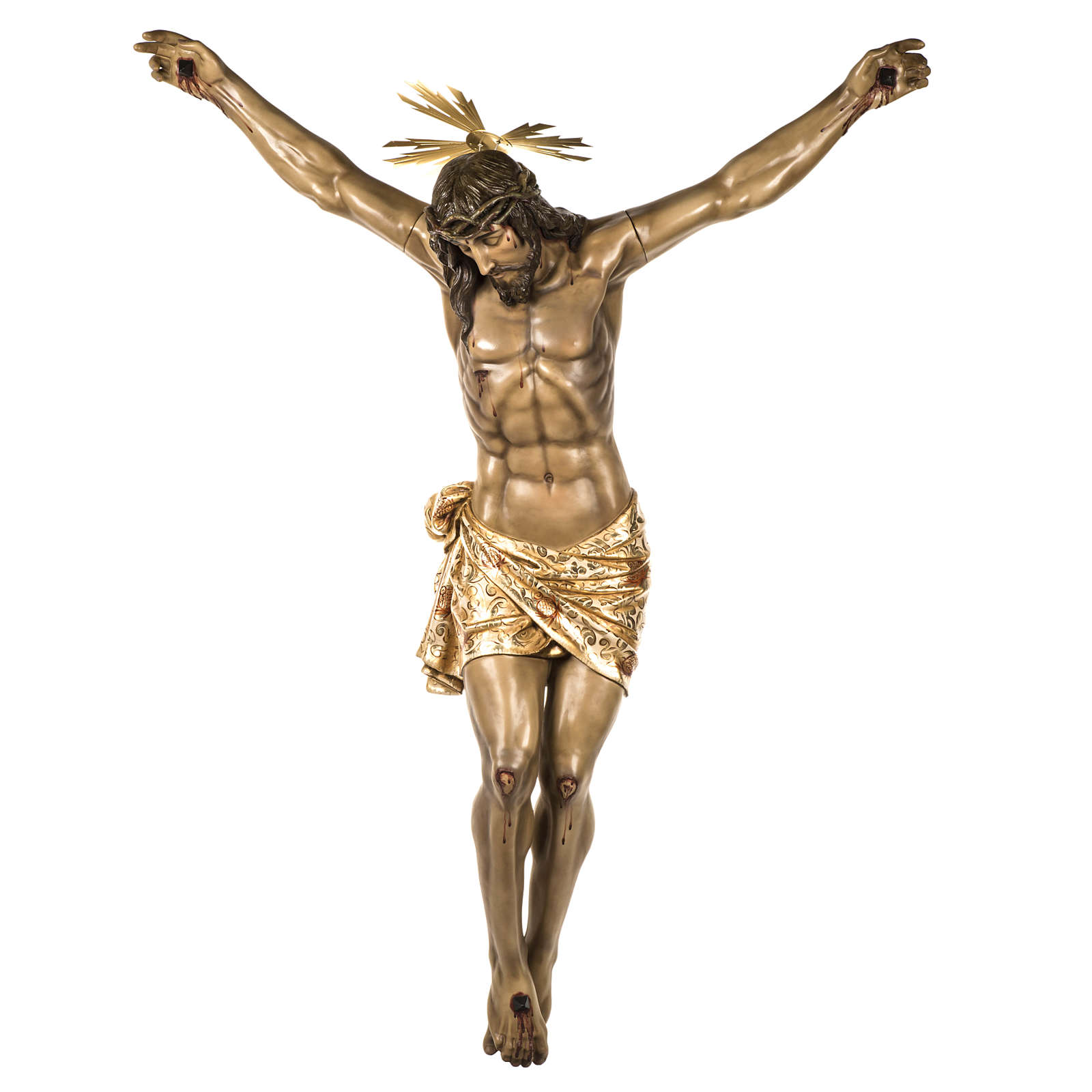 Body of Christ, 160cm in wood paste with extra decorations 4