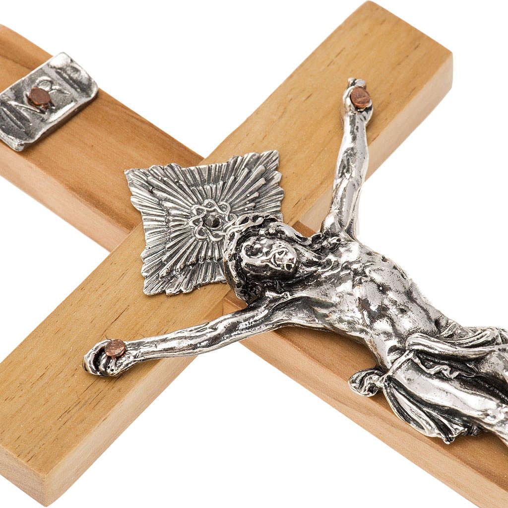 Crocifisso per sacerdoti legno d'ulivo 16x8 cm 4