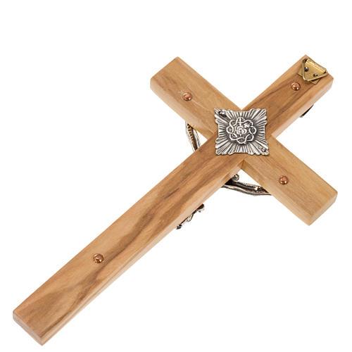 Crucifixo para padres madeira de oliveira 16x8 cm 3