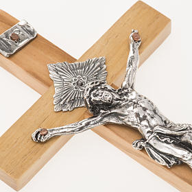 Crucifix for priests in olive wood 16x8 cm s3