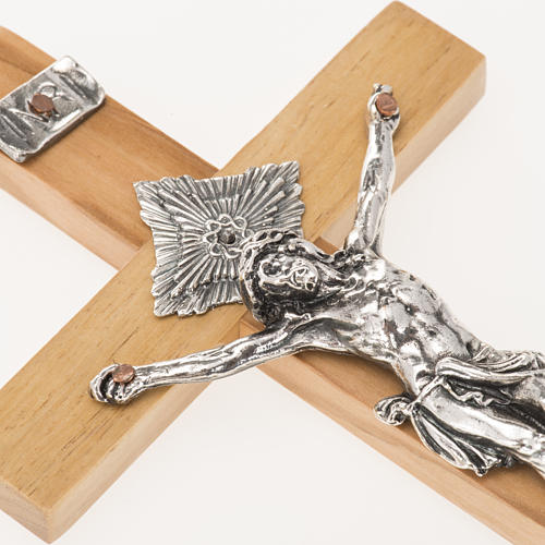Crucifix for priests in olive wood 16x8 cm 3