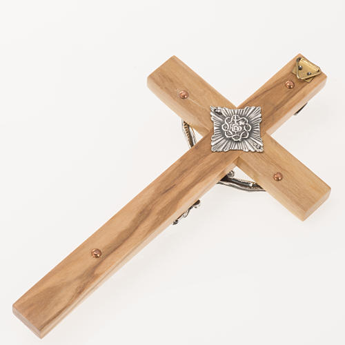 Crucifix for priests in olive wood 16x8 cm 5