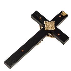 Crocifisso per sacerdoti in legno di rovere 16x8 cm s4