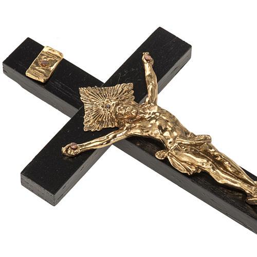Crocifisso per sacerdoti in legno di rovere 16x8 cm 2