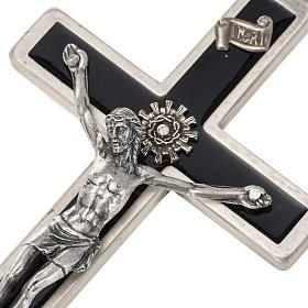 Crucifijo para sacerdotes en latón esmaltado 12x6 cm s3