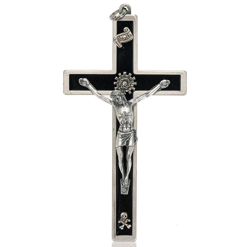 Crucifix pour prêtres en laiton émaillé 12x6 4