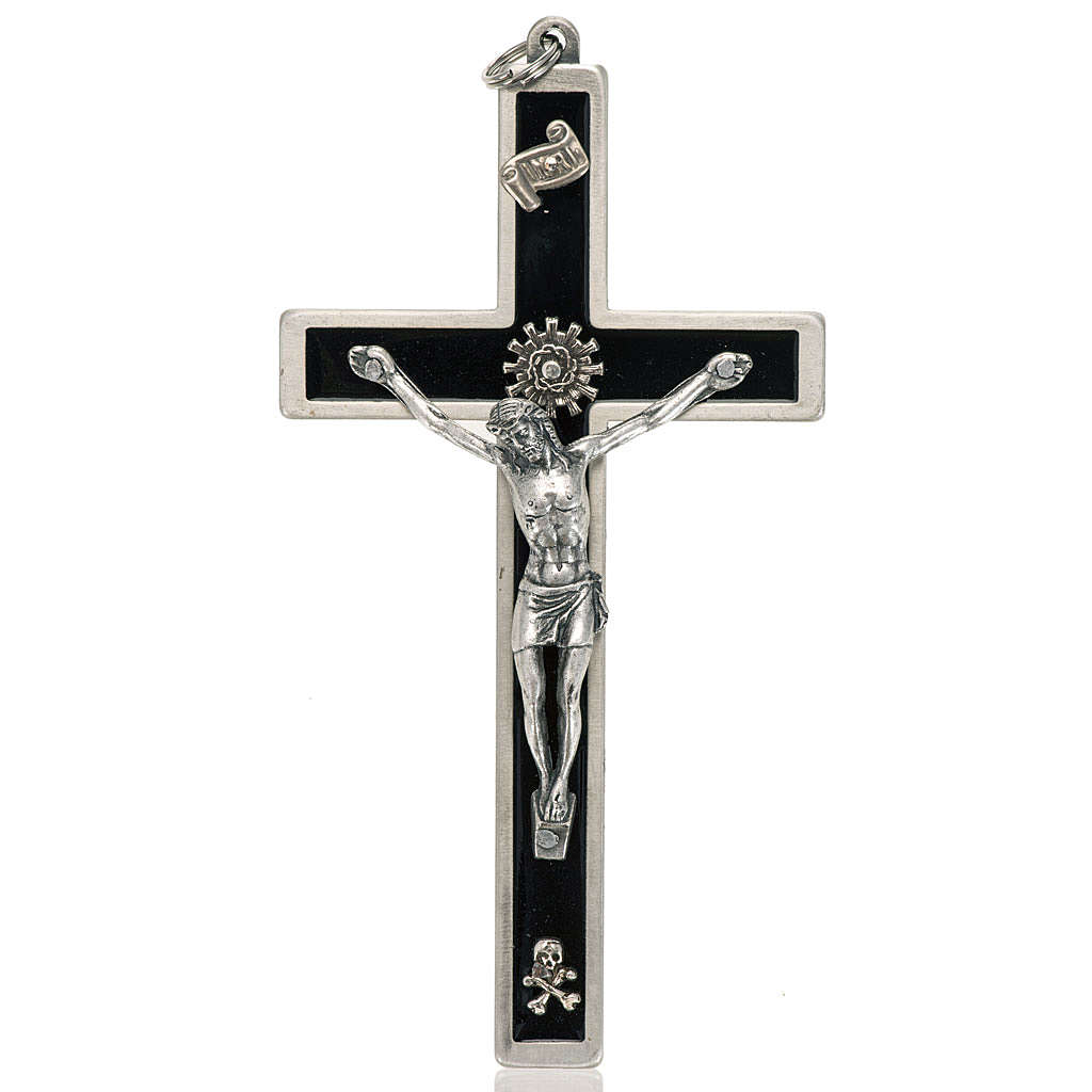 Crucifix for priests in enameled brass 4