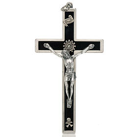 Crucifix for priests in enameled brass s1