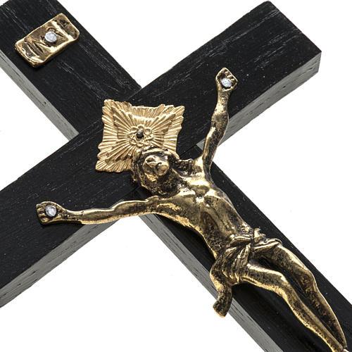 Crucifix pour prêtre en bois de rouvre 20x10 cm 2