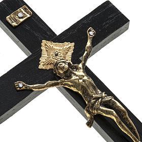 Crocifisso sacerdoti legno rovere 20x10 cm s2