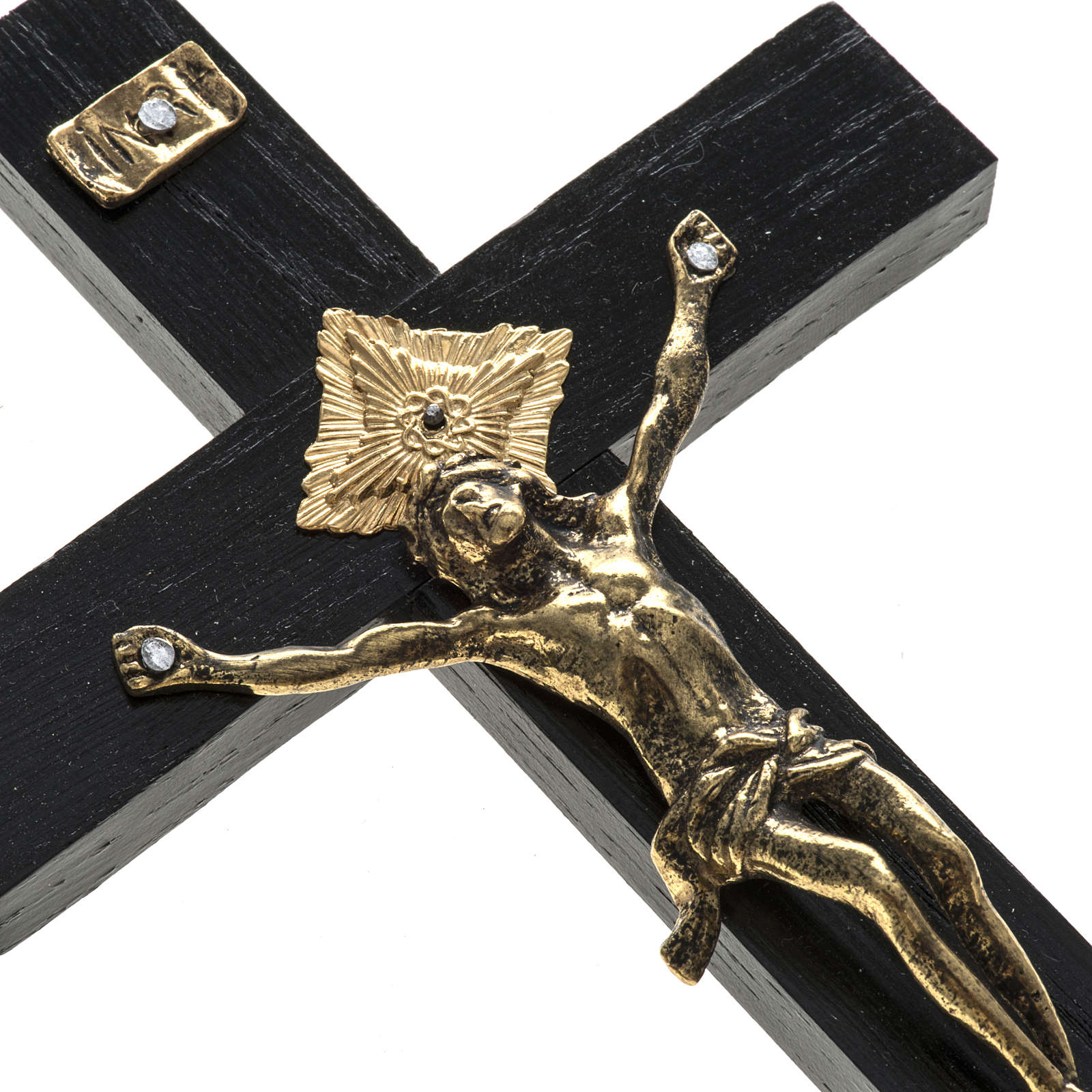 Crucifix for priests in durmast wood 20x10 cm 4