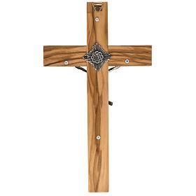 Crucifijo sacerdote 20x10 madera olivo s3