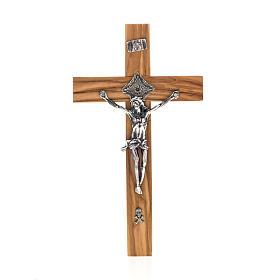 Crucifix pour prêtre en bois d'olivier 20x10 cm s1