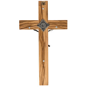 Crucifix for priests in olive wood 20x10 cm s3