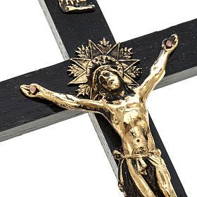 Crucifix pour prêtre en bois de rouvre 25x12 cm s2