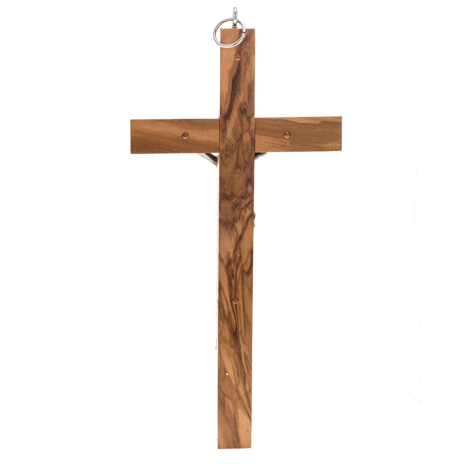 Crucifix pour prêtre en bois d'olivier 25x12 cm 4