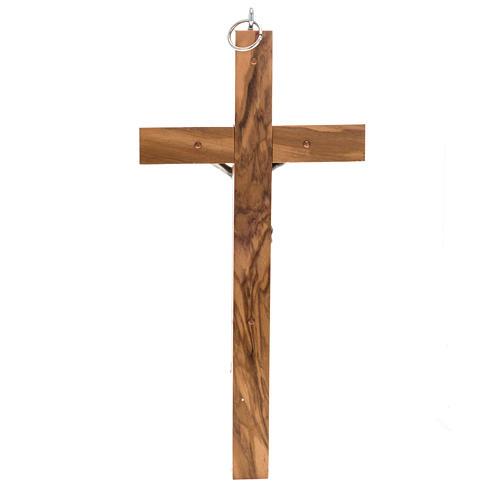 Crucifix pour prêtre en bois d'olivier 25x12 cm 3
