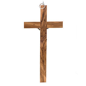 Crucifix for priests in olive wood 25x12 cm s3