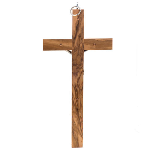 Crucifix for priests in olive wood 25x12 cm 3